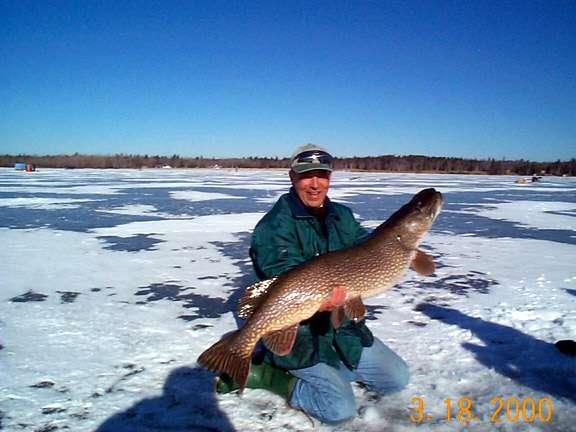 "48""/30 lb. pike fish"