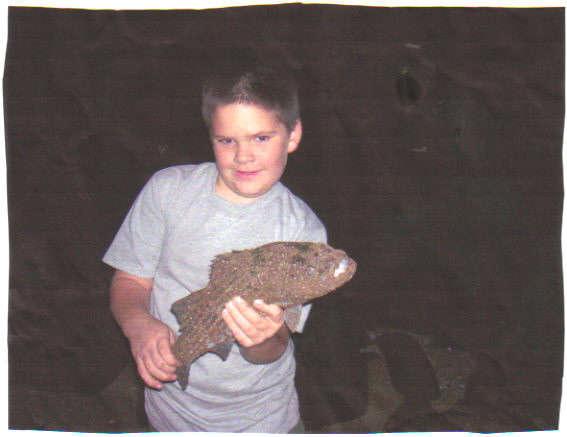 my 1st bass fish
