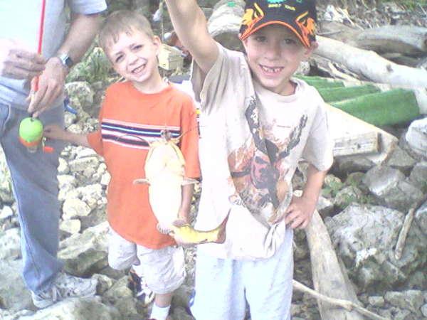 Damons First Catfish!!!! fish