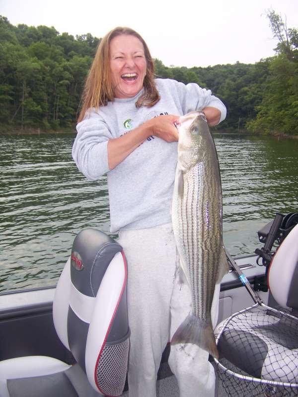 Trina is a happy camper! fish