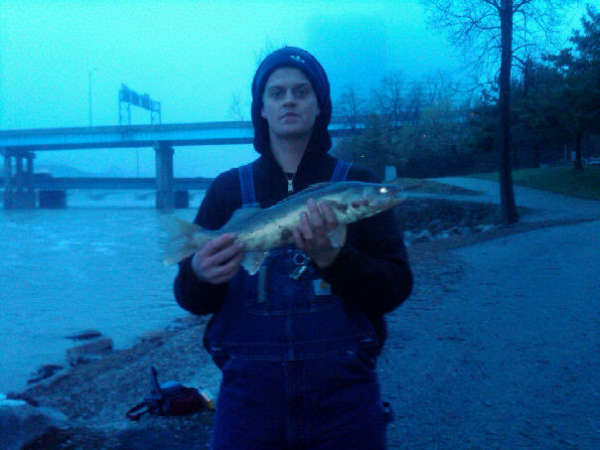 grand river spring walleye fish