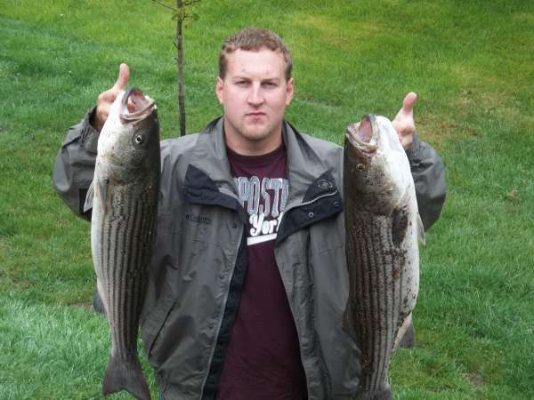 a couple 34 in 10,13# stripers fish