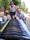 Harry and Milt Veteran Pros fish