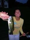 my girls first fish fish