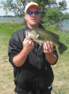 A Largemouth that should have been a football fish