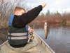 lifting up a spec fish
